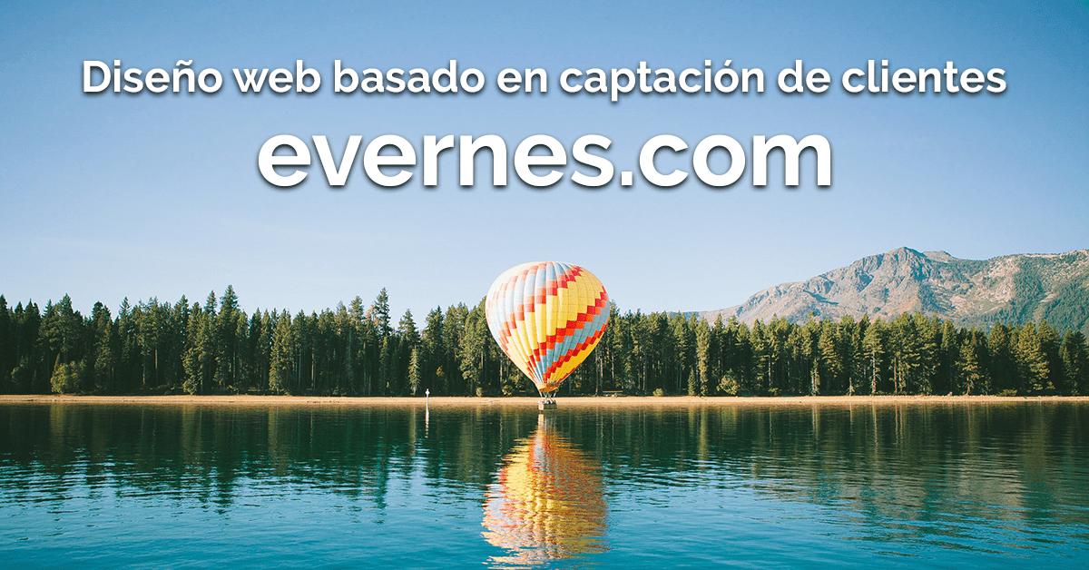 https://evernes.com – Diseño web basado en captación de clientes