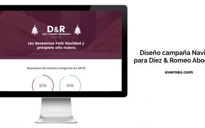 Diseño campaña Navidad para Diez & Romeo Abogados