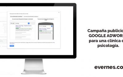 Campaña de publicidad en Google Adwords